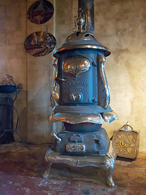 Poster featuring the photograph Clermont No 136 Pot Belly Stove by Mary Lee Dereske
