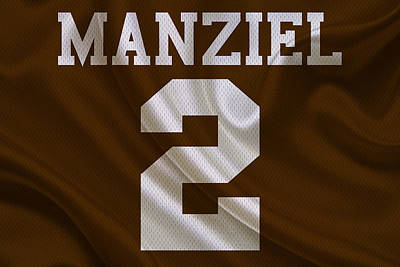 Cleveland Browns Johnny Manziel Poster by Joe Hamilton