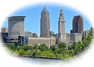 Cleveland Over The Cuyahoga Poster by Frozen in Time Fine Art Photography
