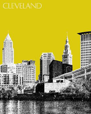 Cleveland Skyline 3 - Mustard Poster by DB Artist