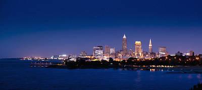Cleveland Skyline Dusk Poster