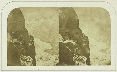Cliff And Floor Of The Great Crater - Eight Miles Poster
