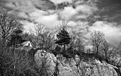 Poster featuring the photograph Cliff House B/w by Greg Jackson