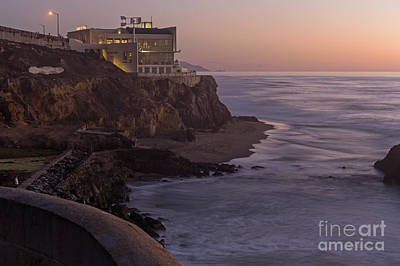 Cliff House Sunset Poster