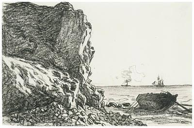 Cliffs And Sea Sainte-adresse Poster