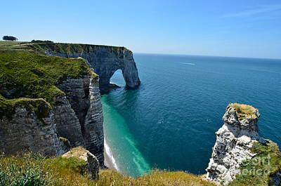 Cliffs At �tretat, Normandy Poster