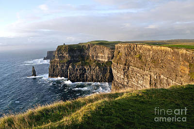 Cliffs Of Moher Evening Light Poster