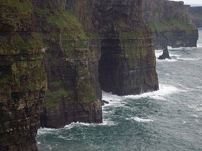 Poster featuring the photograph Cliffs Of Moher Ireland by Alan Lakin