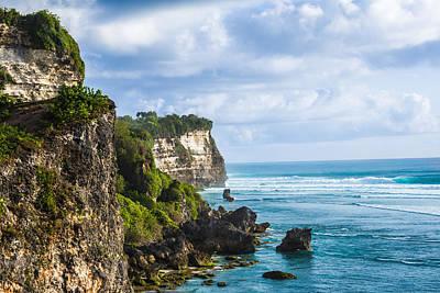 Cliffs On The Indonesian Coastline Poster by Nila Newsom