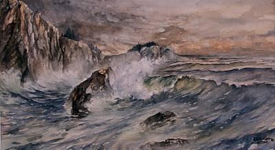 Cliffside Surf Poster