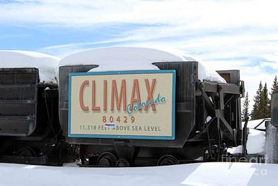 Poster featuring the photograph Climax Colorado by Fiona Kennard