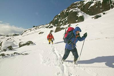 Climbers In Coire Lagan Poster by Ashley Cooper