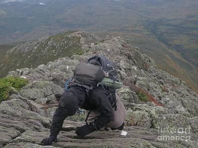 Climbing Mt. Katahdin Poster by Jonathan Welch