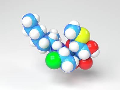 Clindamycin Antibiotic Molecule Poster by Indigo Molecular Images