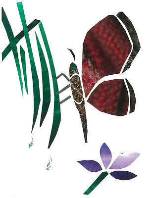 Clinging Butterfly Poster