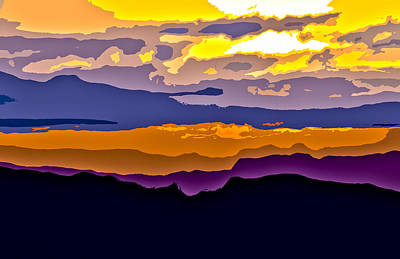Poster featuring the photograph Clingman's Sunrise Cut by David Stine