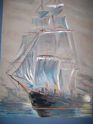 Poster featuring the mixed media Clipper In Mist by Peter Suhocke