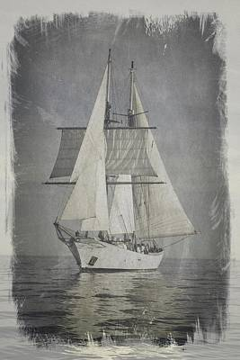 Clipper Under Sail Poster