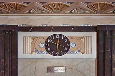 Clock - Art Deco - Interior Design Poster by Nikolyn McDonald