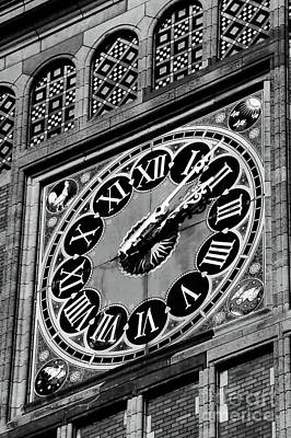 Clock At Central Station Poster by John Rizzuto