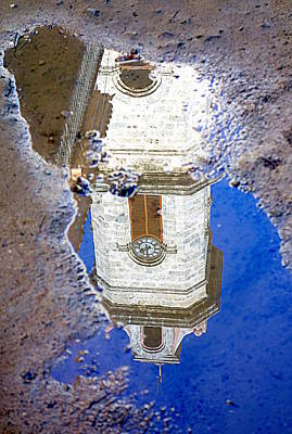 Clock Tower Reflected Poster by Valentino Visentini