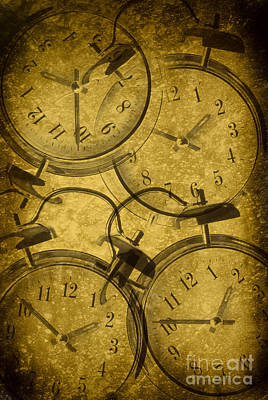 Clocks Poster by Amanda Elwell