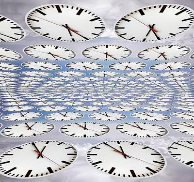 Clocks Poster by Victor De Schwanberg
