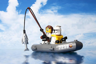 Clone Trooper Fishing Trip Poster by Samuel Whitton