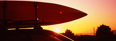 Close-up Of A Kayak On A Car Roof Poster by Panoramic Images