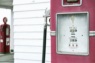 Close Up Of Antique Gas Pump, Dwight Poster