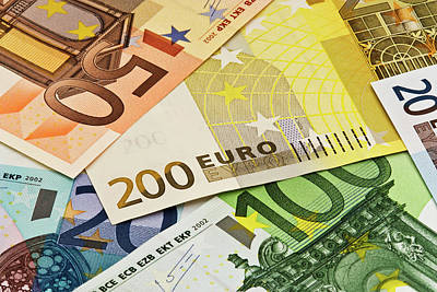 Close-up Of Assorted Euro Paper Currency Poster by Jaynes Gallery