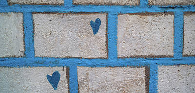 Close-up Of Brick Wall, Safed Zfat Poster