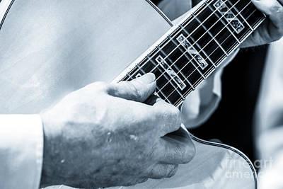 Close Up Of Guitarist Hand Strumming Poster
