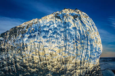 Close Up Of Ice. Ice Formations Come Poster by Panoramic Images