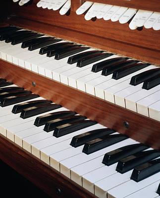 Close Up Of Organ Dual Keyboard & Stops Poster