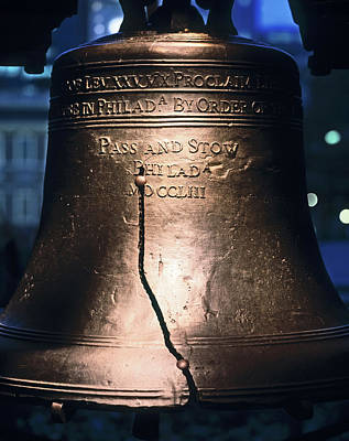 Close-up Of The Liberty Bell Poster