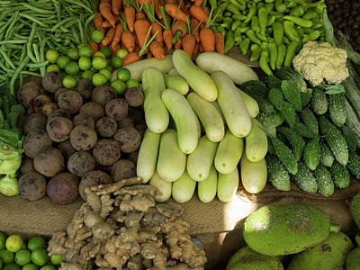 Close-up Of Vegetables For Sale On Main Poster by Panoramic Images