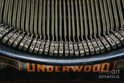 Close Up Of Vintage Typewriter Keys. Poster by Paul Ward