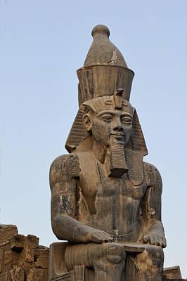 Close View Undamaged Pharaoh Sculpture Poster