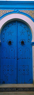Closed Door Of A House, Medina, Sousse Poster by Panoramic Images