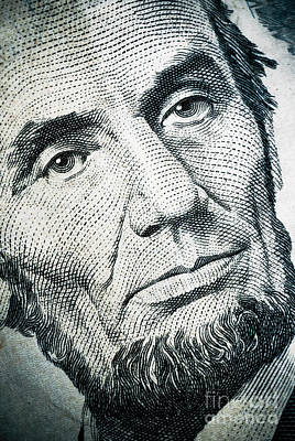 Closeup Of A Five Dollar Bill Poster by Amy Cicconi