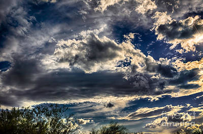 Poster featuring the photograph Cloud Drama by Mark Myhaver