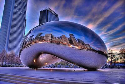 Cloud Gate Poster by Jeff Lewis