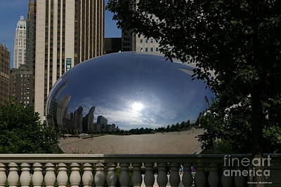 Cloud Gate Poster by Tannis  Baldwin