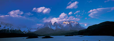Cloud Over Mountains, Towers Of Paine Poster