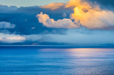 Cloud Reflection On Lake Tahoe Poster by Marc Crumpler