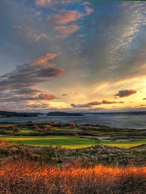 Cloud Serenity - Chambers Bay Golf Course Poster by Chris Anderson
