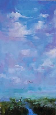 Cloud Study Poster by Laura Lee Zanghetti