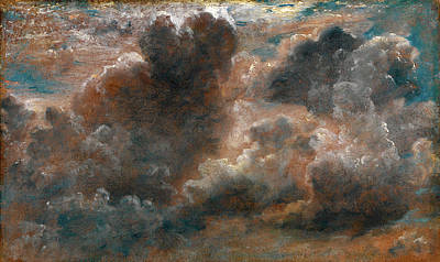 Cloud Study Study Of Cumulus Clouds Label Affixed Poster by Litz Collection