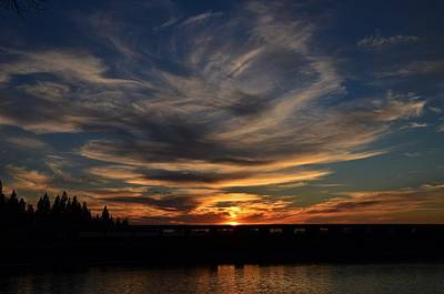 Cloud Swirl Sunset Poster